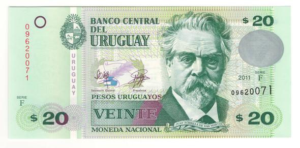 Uruguay: 2011 20 Pesos Banknote P. 86b
