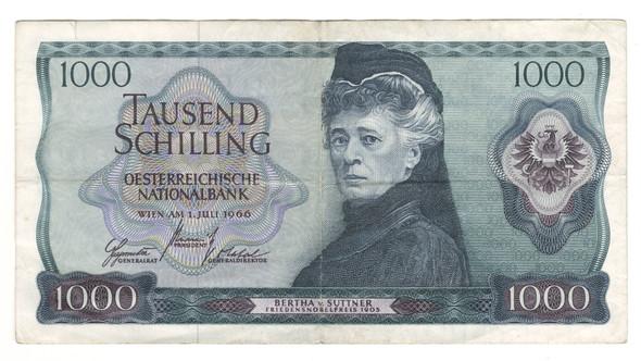 Austria: 1966 1000 Shilling Banknote P.147