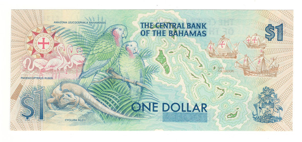 Bahamas: 1992 $1 Banknote P. 50