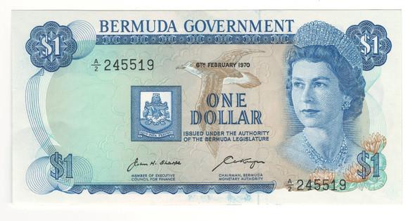 Bermuda: 1970 $1 Banknote P. 23
