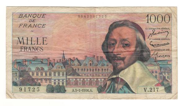 France: 1956 1000 Francs Banknote P142