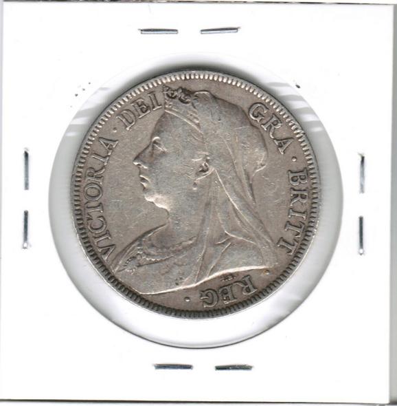 Great Britain: 1895 Silver Half Crown #2