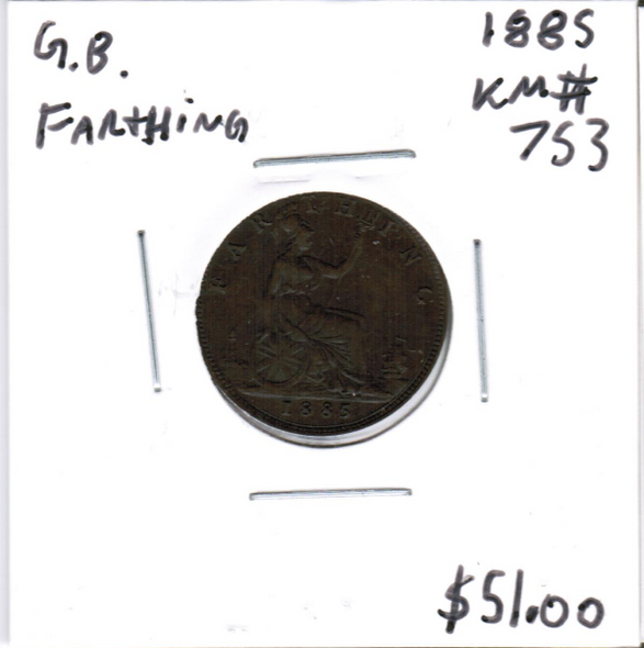Great Britain: 1885 Farthing