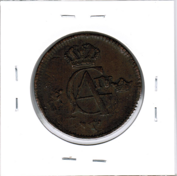 Sweden: 1805 1/2 Skilling Struck On 1749 Host Coin