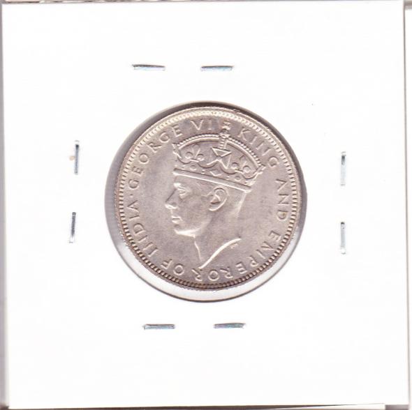 Malaya: 1945 Silver 20 Cents