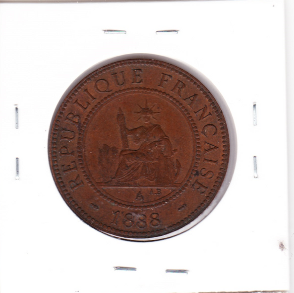 French Indochina: 1888 A Centime