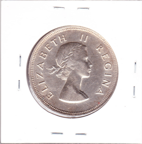 South Africa: 1954 Silver Half Crown (2 1/2 Shillings)