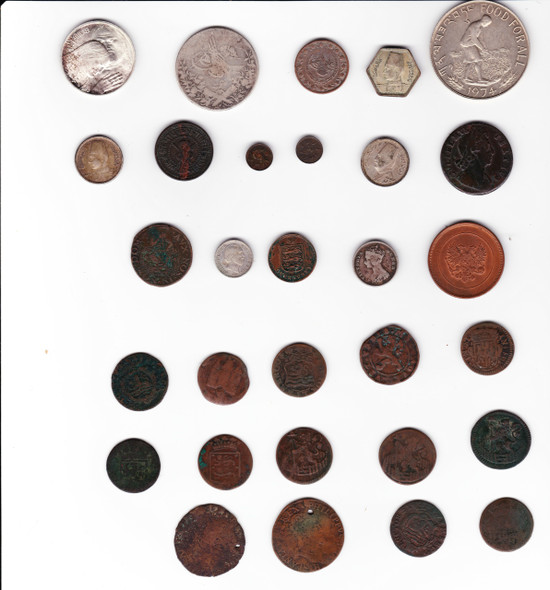 Large World Coin Lot (30 Pieces)Includes Silver Netherlands, India, Egypt Etc.