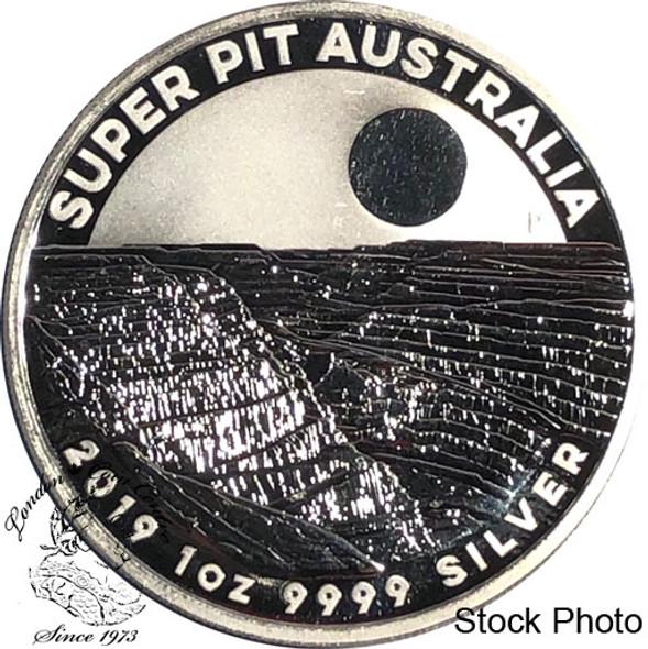 Australia: 2019 $1 Super Pit 1 oz Silver Round