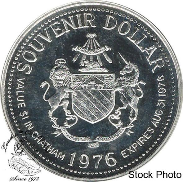 Canada: 1976 Chatham Ontario 1890 The Chatham Wagon Pure Silver Trade Dollar