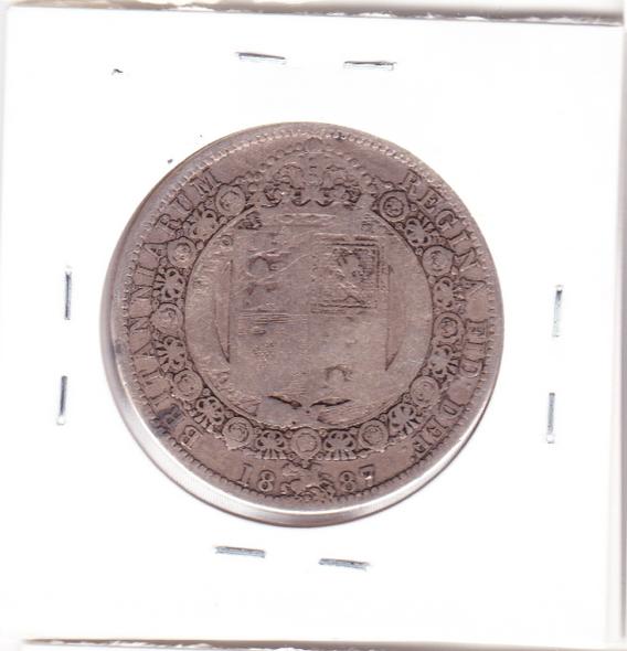 Great Britain: 1887 Silver Half Crown