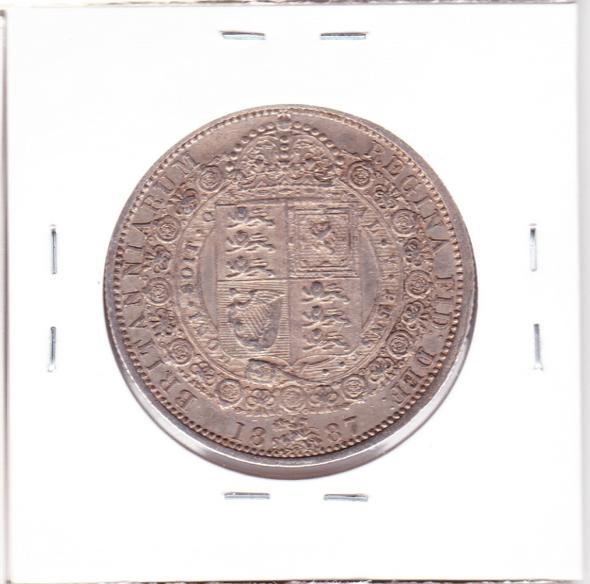 Great Britain: 1887 Silver Half Crown #3
