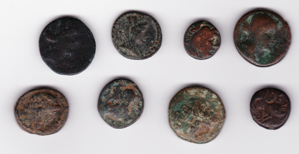 Ancient Greece: Bulk Coin Lot (8 Pieces)