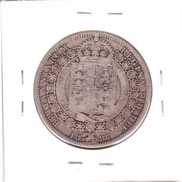 Great Britain: 1887 Silver Half Crown #4