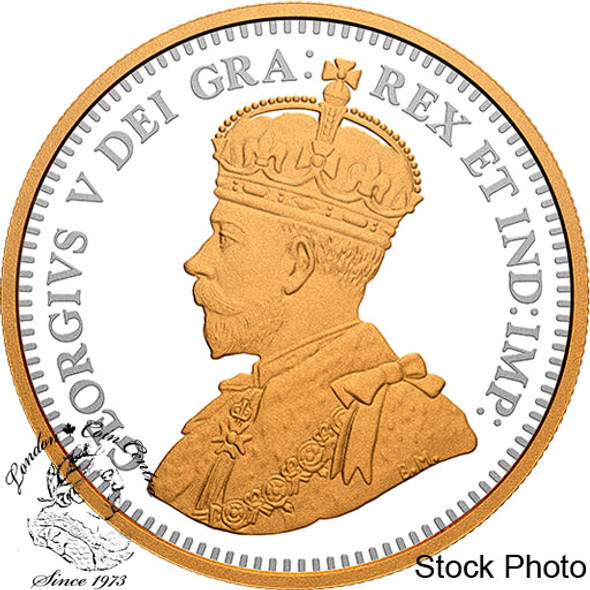 Canada: 2021 $1 100th Anniversary of The Bluenose Gold Plated Pure Silver Proof Dollar