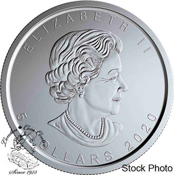 Canada: 2020 $5 W Mint Mark Silver Maple Leaf Pure Silver Coin