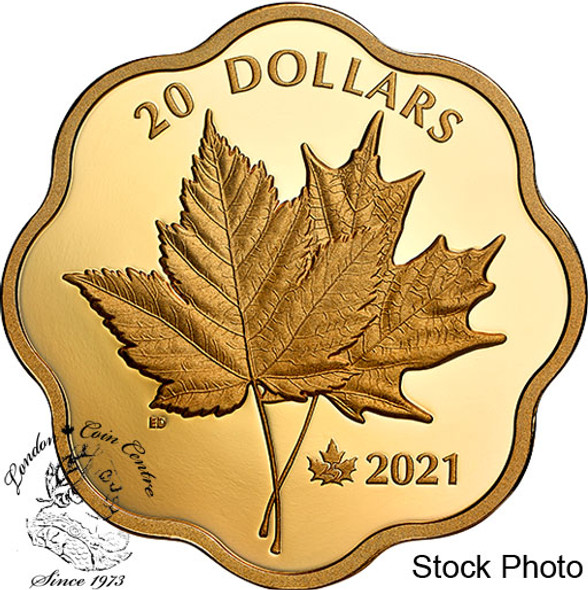 Canada: 2021 $20 Iconic Maple Leaves Masters Club Pure Silver Coin