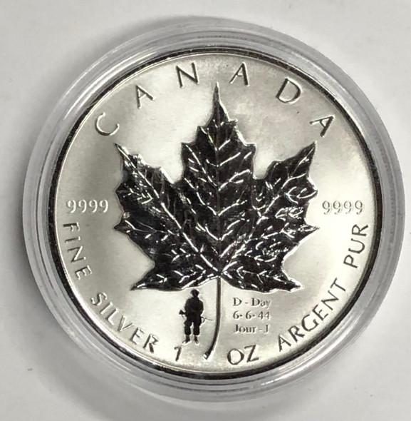 Canada: 2004 $5 1 oz D-Day Privy Silver Maple Coin