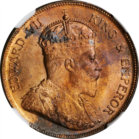 British Honduras: 1904 Cent NGC MS64 RB