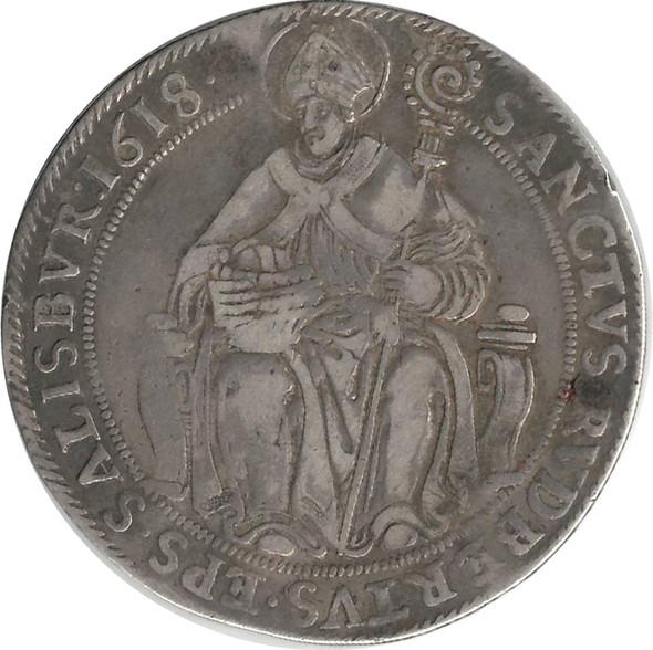Austria, Salzburg: 1618 Silver Thaler Markus Sittikus