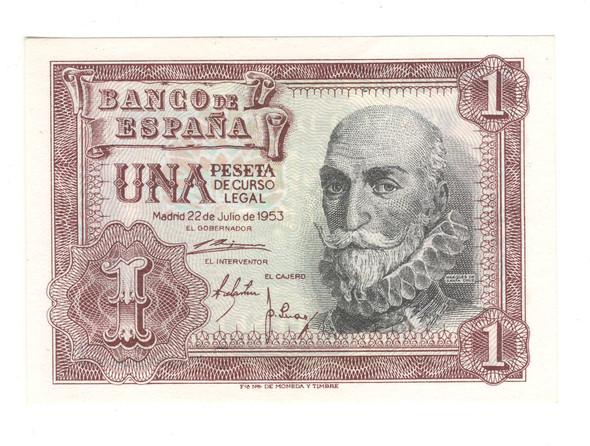 Spain: 1953 1 Peseta Banknote P144