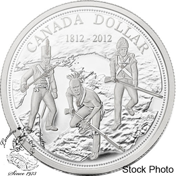 Canada: 2012 $1 200th Anniversary of the War of 1812 Proof Silver Dollar