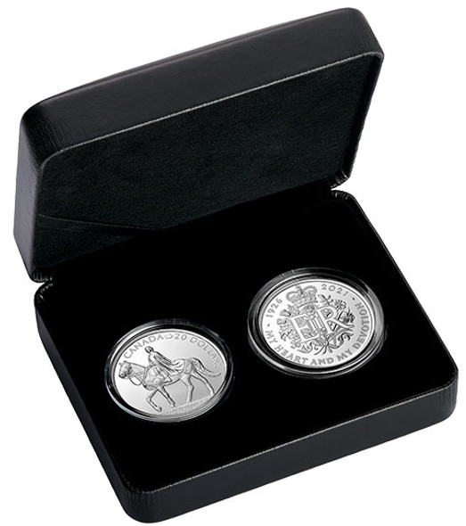 Canada, Great Britain: 2021 $20 A Royal Celebration Two Coin Pure Silver Set