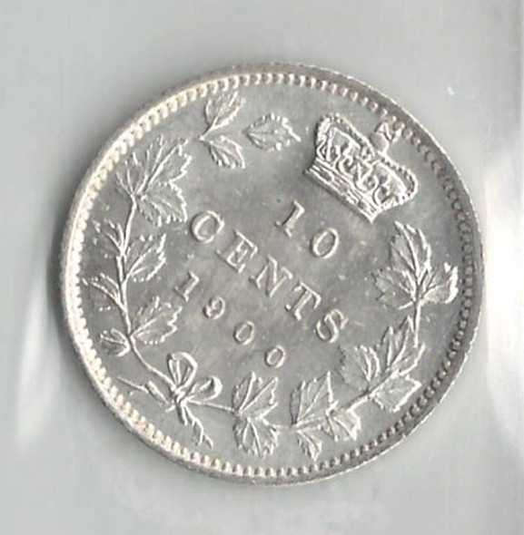 Canada: 1900 10 Cents ICCS MS66