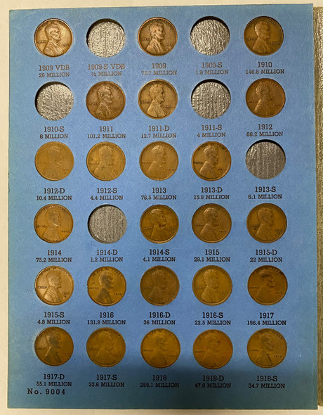 United States: 1909 VDB to 1940 Wheat Penny Collection Includes Low Mintage Dates and Most Key Dates(82 Pieces)