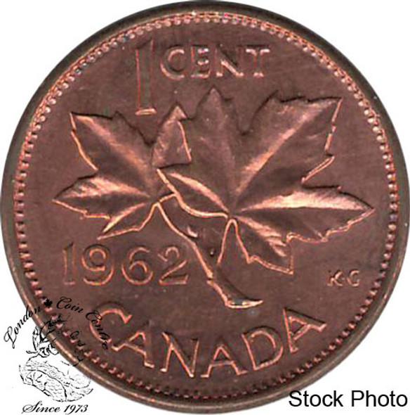 Canada: 1962 1 Cent Error Tear Drop In Her Eye MS62