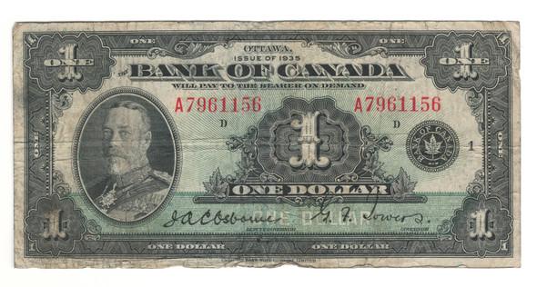 Canada: 1935 $1 Banknote - Bank of Canada English BC-1 Lot#9