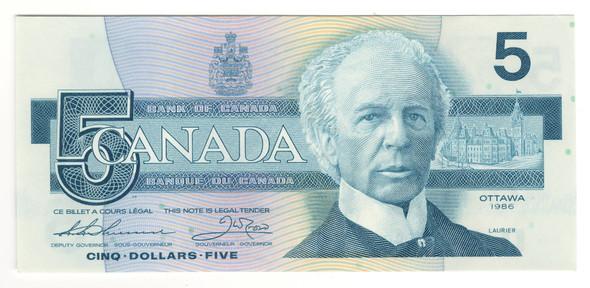 Canada: 1986 $5 Bank Of Canada Banknote BC-56b Lot#2