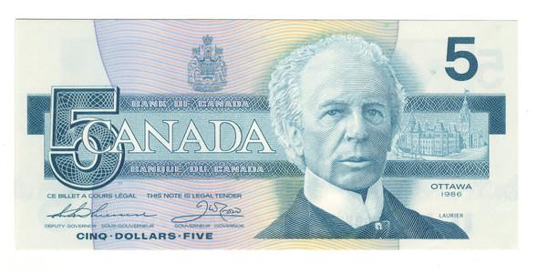 Canada: 1986 $5 Bank Of Canada Banknote BC-56b Lot#4