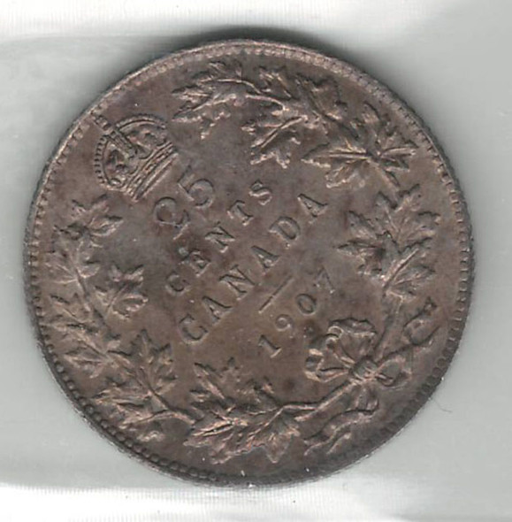 Canada: 1907 25 Cents ICCS MS63