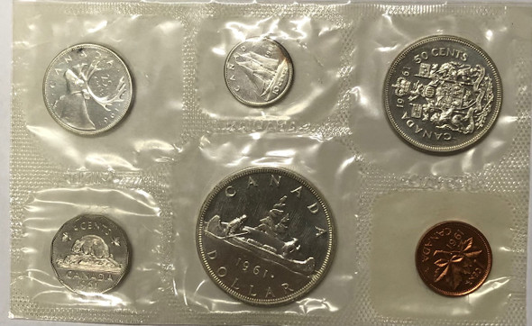 Canada: 1961 Proof Like / PL Coin Set **No Envelope, In Original Cellophane, May Have Toning**
