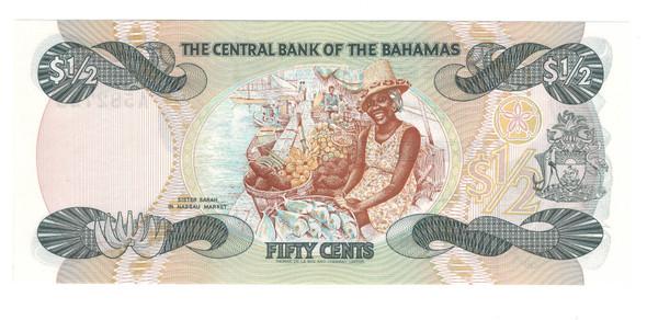 Bahamas: 1984 50 Cent Banknote