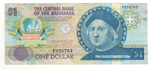 Bahamas: 1992 1 Dollar Banknote