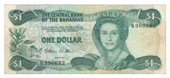 Bahamas: 1984 1 Dollar Banknote