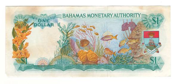 Bahamas: 1974 1 Dollar Banknote