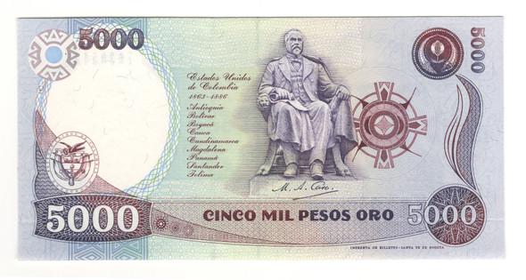 Colombia: 1993 5000 Pesos Banknote