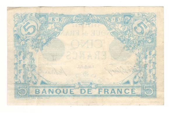 France: 1915 5 Francs Banknote P. 70