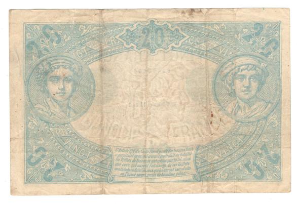 France: 1912 20 Francs Banknote P. 68B