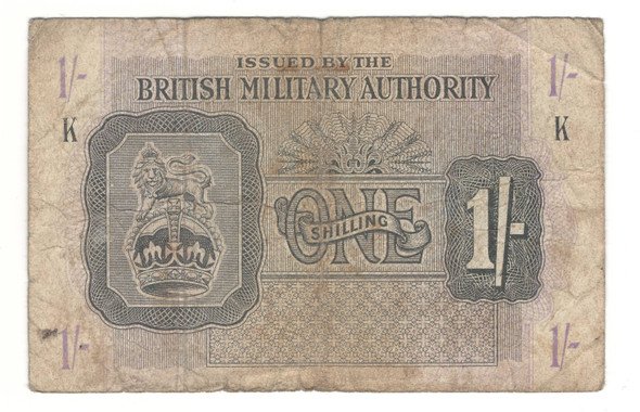Great Britain: 1943 1 Shilling British Military Authority Banknote