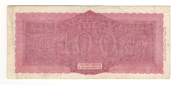 Italy: 1943 1000 Lire Banknote