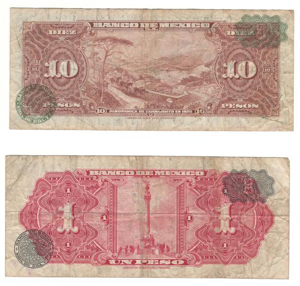 Mexico: 1961 - 1965 Banknote Lot (2 Pieces)