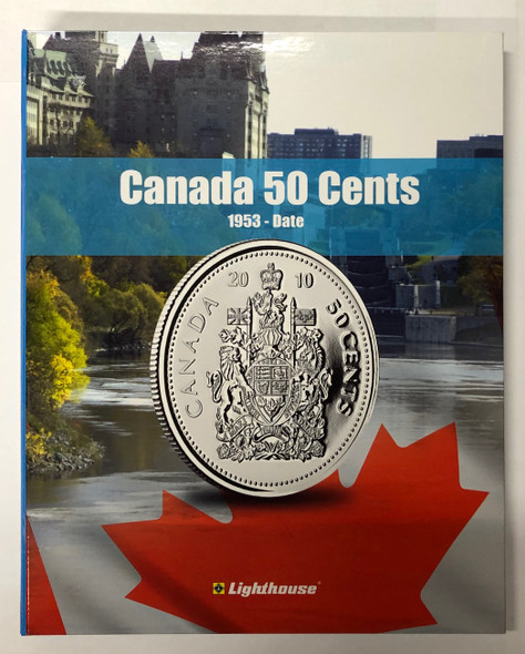 Canada: 1953 - 2013 Collection of Half Dollars 50 Cents in Vista Book (61 Pieces)