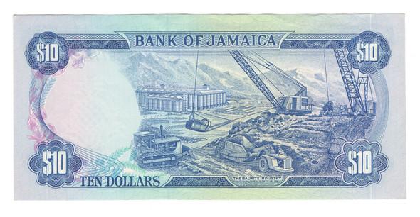 Jamaica: 1979 10 Dollars Banknote