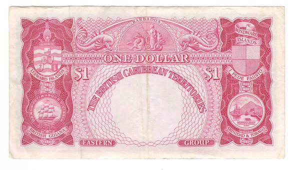 British Caribbean: 1953 Dollar Banknote