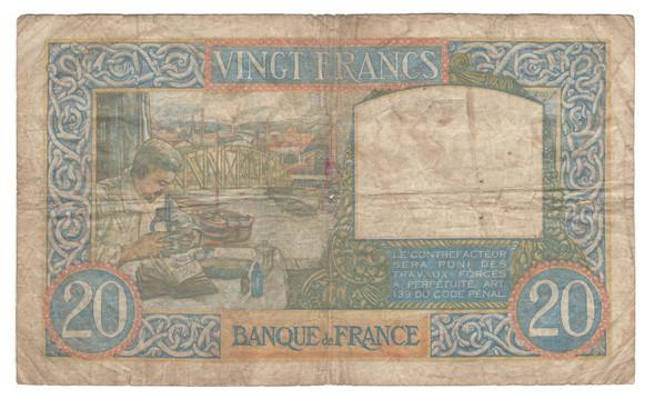 France: 1941 20 Francs Banknote