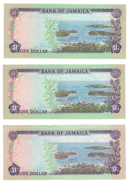 Jamaica: 1970 Dollar Banknote Collection Lot (3 Pieces)